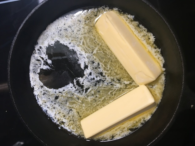 the ghee formed a heart as it melted